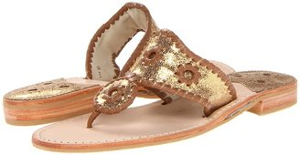 Jack Rogers Metallic Shimmer (Gold/Cinnamon) - Footwear