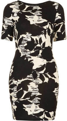 Topshop Petite Dark Flower Mini Dress