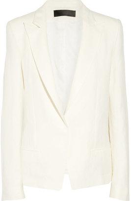 Haider Ackermann Linen and silk-blend blazer