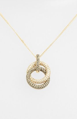 Women's Judith Jack Pave Double Circle Pendant Necklace $160 thestylecure.com