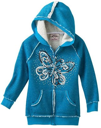 Knitworks butterfly hoodie - girls 4-6x