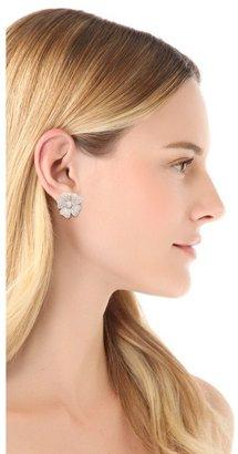 Kenneth Jay Lane Medium Pansy Pave Earrings