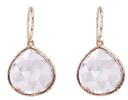 Irene Neuwirth Small Rose Cut Rose of France Teardrop Earrings - Rose Gold