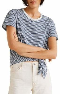 MANGO Vicky Striped Cotton Tee