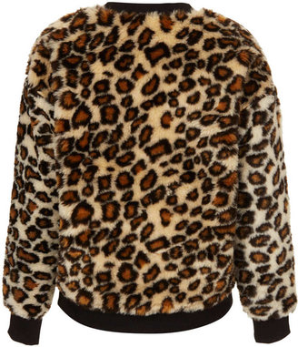Topshop Furry Sweat By Tee And Cake