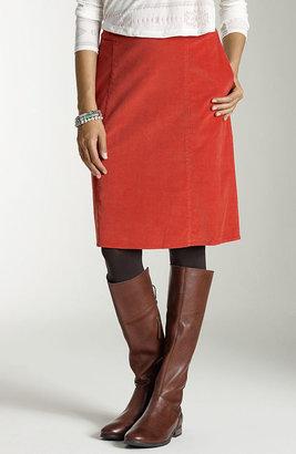 J. Jill A-line pincord skirt