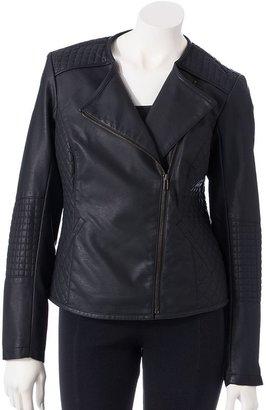 Apt. 9 faux-leather motorcycle jacket - women's