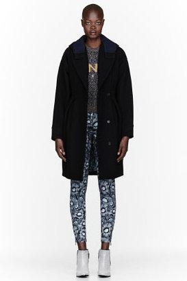 Kenzo Black wool Hooded Coat