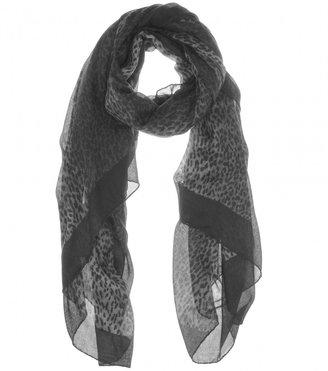 Saint Laurent Animal-print silk and cashmere scarf