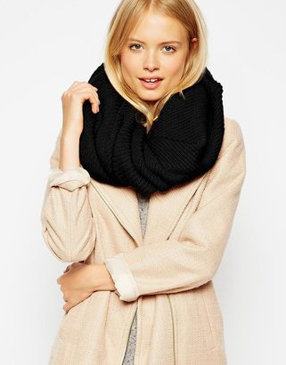 Asos Fine Rib Funnel Infinity scarf