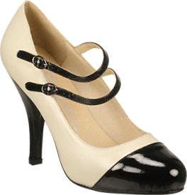 Jeffrey Campbell Gwen Bone Leather/Black Patent