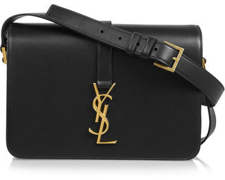 Saint Laurent - Monogramme Sac Université Leather Shoulder Bag - Black $1,990 thestylecure.com