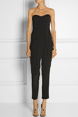Milly Sandwashed-silk jumpsuit