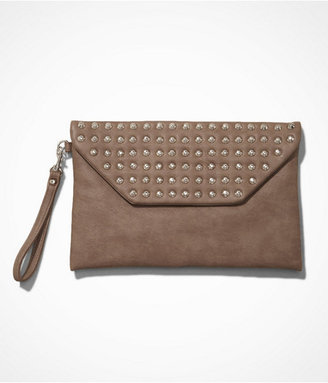 Express Studded Fold-Over Clutch