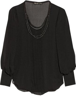 Elizabeth and James Natalie silk-chiffon blouse