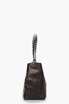 Valentino Black leather Medium Rockstud Tote