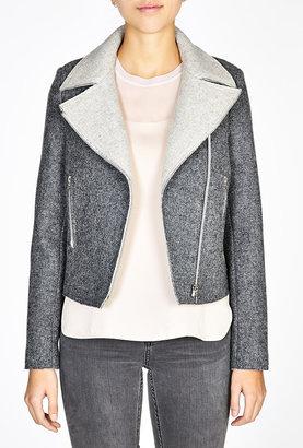 Vanessa Bruno Double De Laine Shetland Biker Zip Jacket