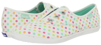Keds Rookie Laceless Candy Buttons (Black Multi Twill) - Footwear