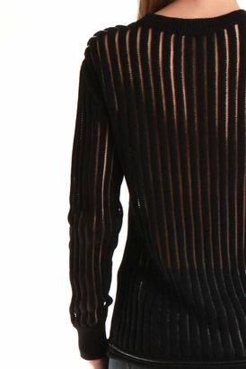 3.1 Phillip Lim Cropped Long Sleeve Boyfriend Pullover