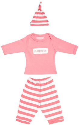 Bob And Blossom Baby Gift Set - Gorgeous Tee, Stripy Trousers And Hat