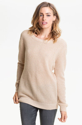 Hinge Open Back Thermal Knit Sweater