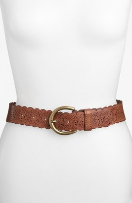 Fossil Scalloped Leather Belt