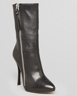 Jean-Michel Cazabat Platform Booties - Zipper High Heel