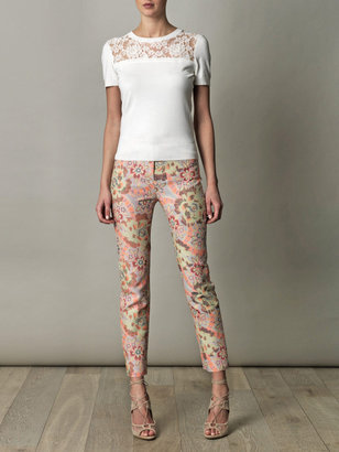 Erdem Sidney jacquard trousers