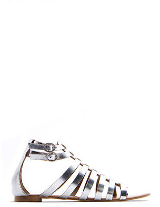 MANGO Gladiator leather sandals