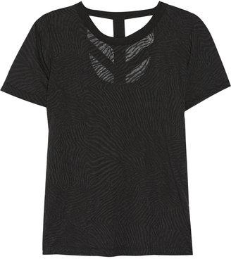 LnA Cutout burnout-effect jersey T-shirt
