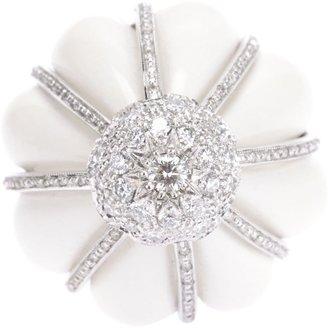 Francesco Demaria 18kt White Gold And Diamond Flower Ring