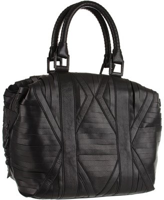 L.A.M.B. Stripped Bowler (Black) - Bags and Luggage
