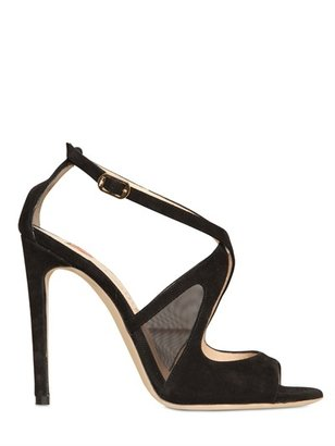 Ballin 110mm Suede And Net Sandals