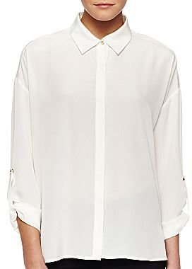Mng by Mango® Shirttail Colorblocked Blouse