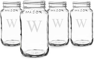 Cathy's Concepts CATHYS CONCEPTS Set of 4 Personalized 16-oz. Mason Jars