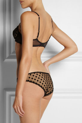 L'Agent by Agent Provocateur Rosalyn flocked tulle briefs