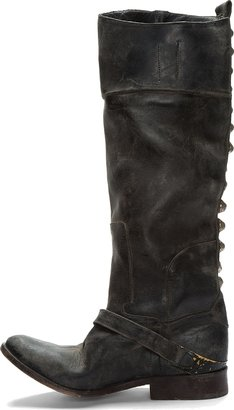 Golden Goose Black Leather Worn Charlye Boot
