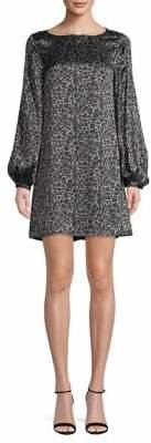 Equipment Cheetah-Print Silk Mini Dress