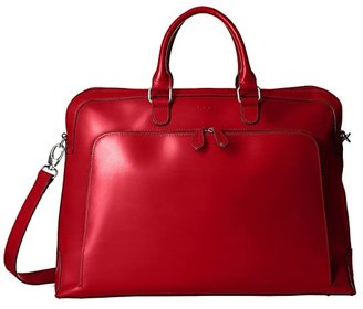 Lodis Audrey RFID Brera Briefcase With Laptop Pocket (Red RFID) Briefcase Bags
