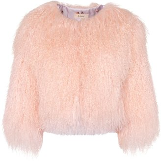Lisou Colette Baby Pink Cropped Wool Jacket