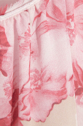 Giambattista Valli Floral-print silk-satin top