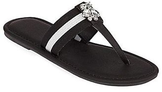 JCPenney Jeweled Rugby T-Strap Thong Sandals