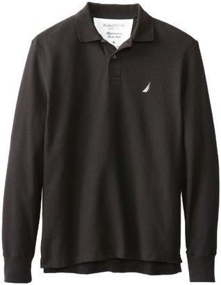 Nautica Men's Long Sleeve Deck Polo Shirt