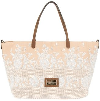 Valentino bead embellished tote