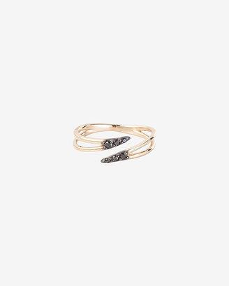 Black Diamond Kismet by Milka Pave Midi Ring