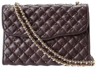 Rebecca Minkoff Affair Diamond Quilt Ands (Black Cherry) - Bags and Luggage