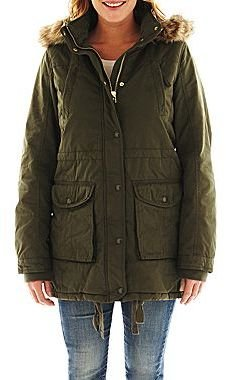 JCPenney jcp Hooded Twill Parka - Talls