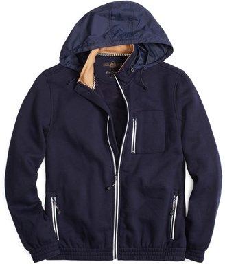 Brooks Brothers Prosport® Zip-Up Fleece Hidden Hoodie
