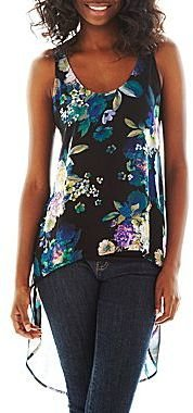 JCPenney Decree® High-Low Tank Top