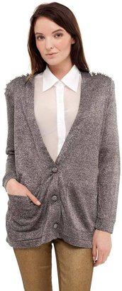 Reverse Cardigan With Spikes